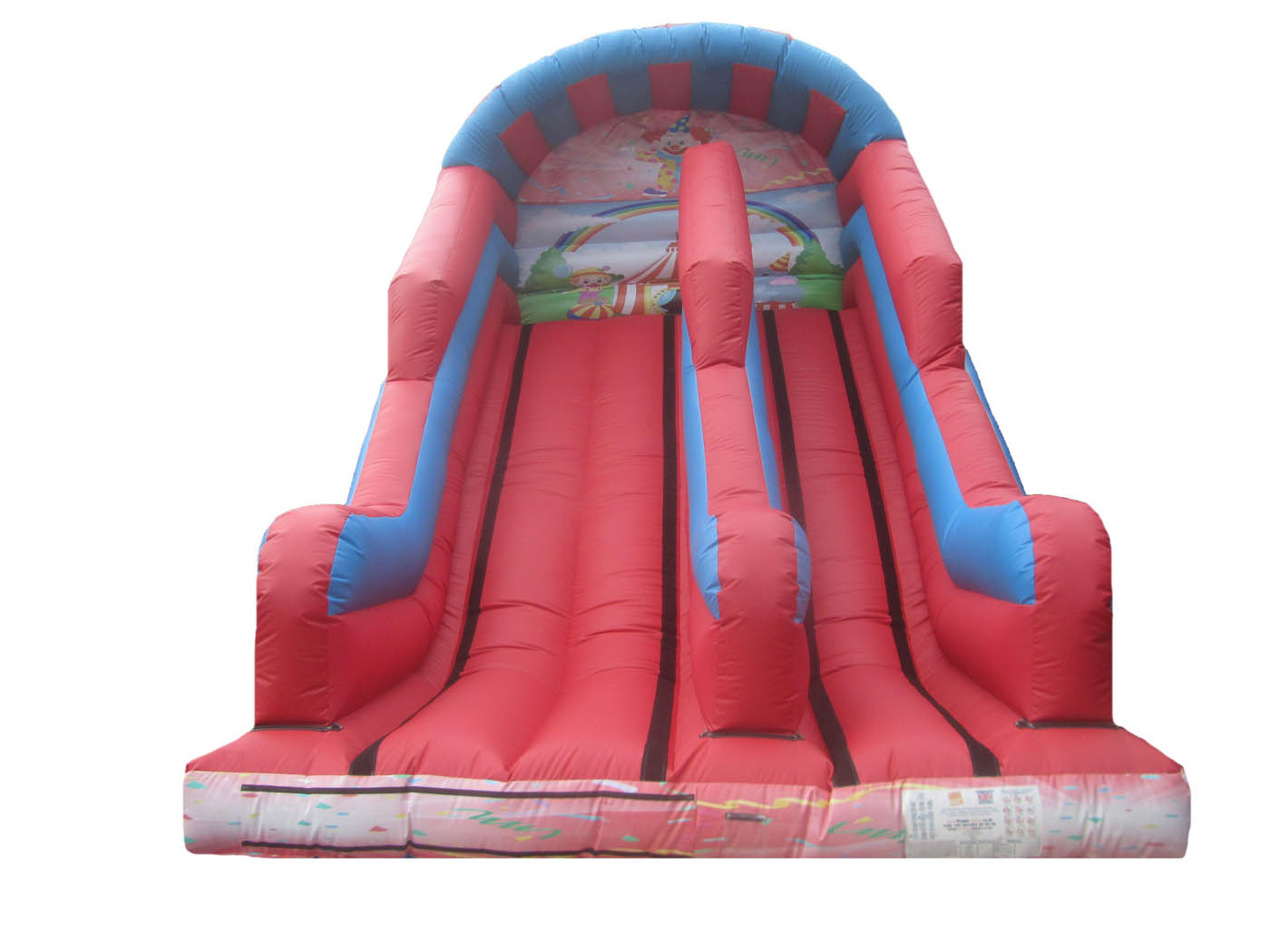 10ft-platform-clown-printed-inflatable-slide-compressor
