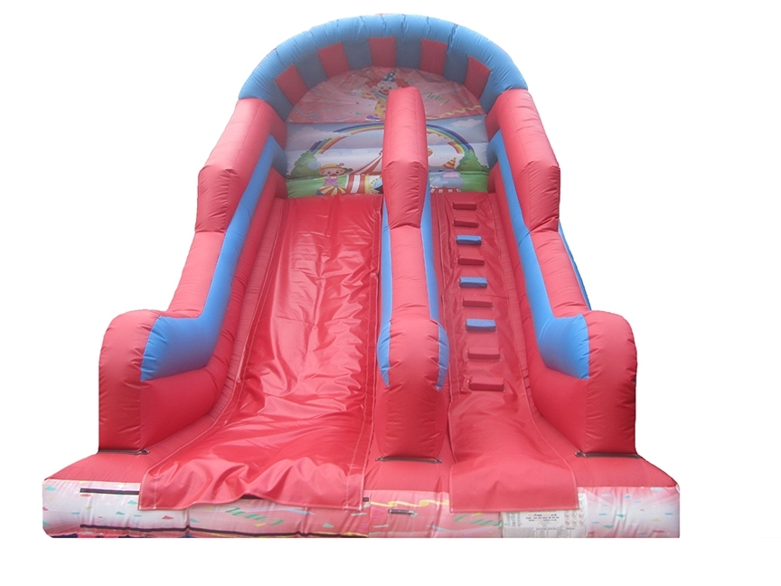 10ft-platform-clowns-printed-inflatable-slide-compressor
