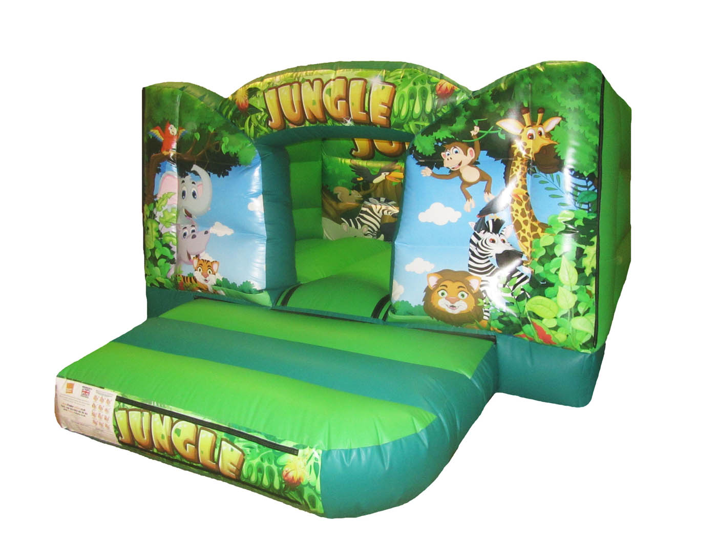Jungle Printed Artwork Commercial Bouncy Castle for Sale