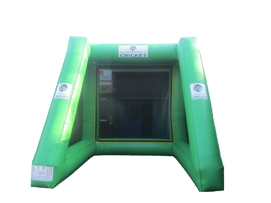 Personalised Inflatable Speed Cage with Company Logos