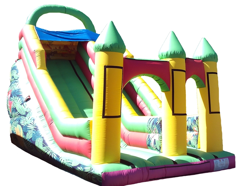 13ft Platform Mega Bouncy Slide with Dinosaur themed Artwork