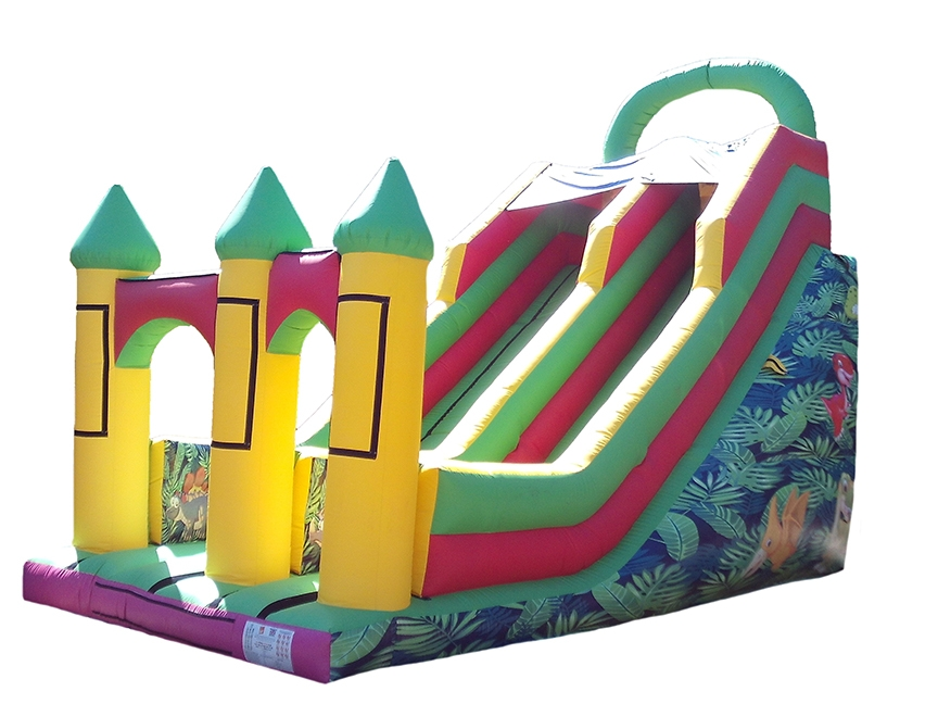 Commercial Inflatable Mega Slide with Artwork and Velcro