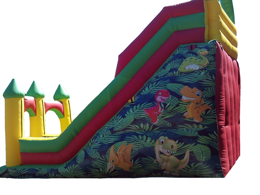 13ft Inflatable Mega Slide with dinosaur artwork