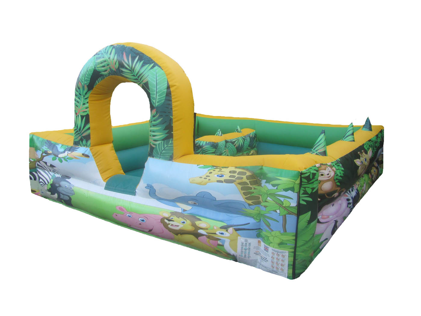 Commercial Inflatable Ball Pond with Animal Artwork