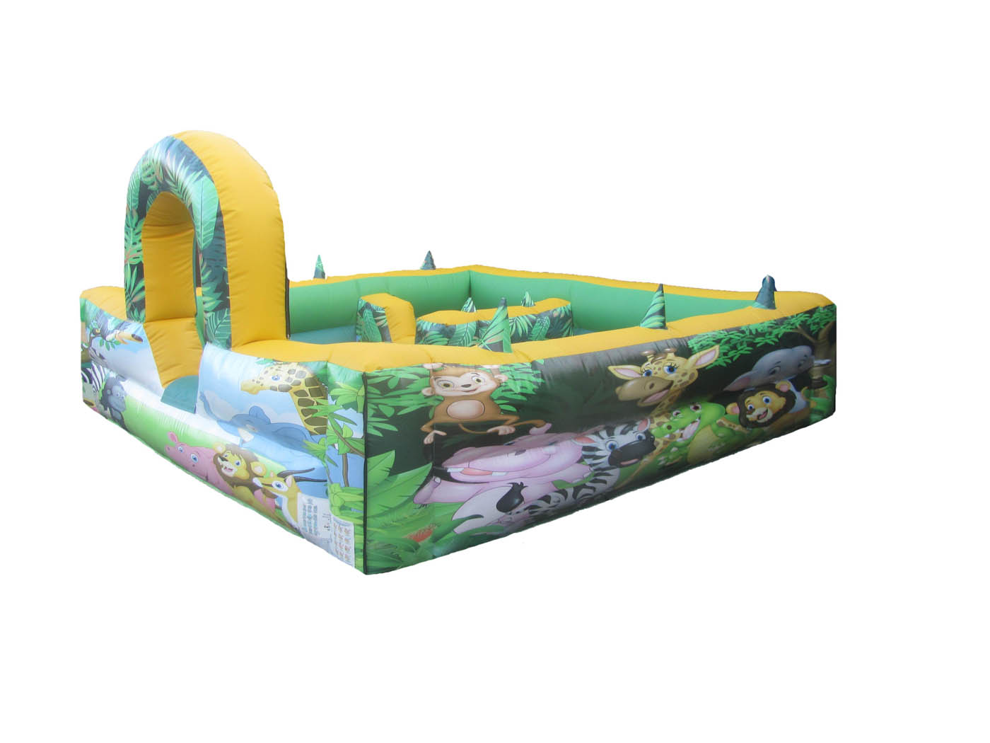 Inflatable Play Park for Toddlers with Jungle themed Artwork