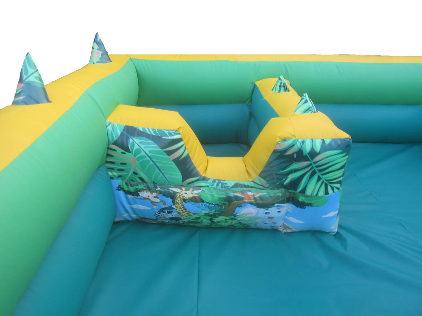 Jungle Themed Artwork on Inflatable Ball POnd