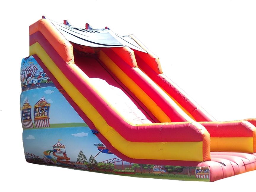 15ft Platform Circus Themed Bouncy Slide