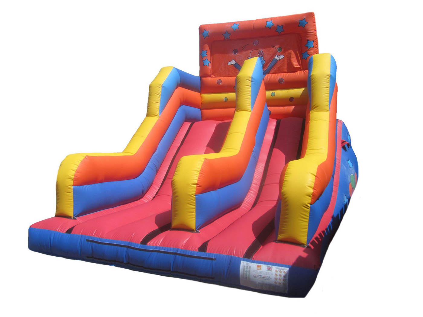 15ft-clown-inflatable-platform-slide-compressor