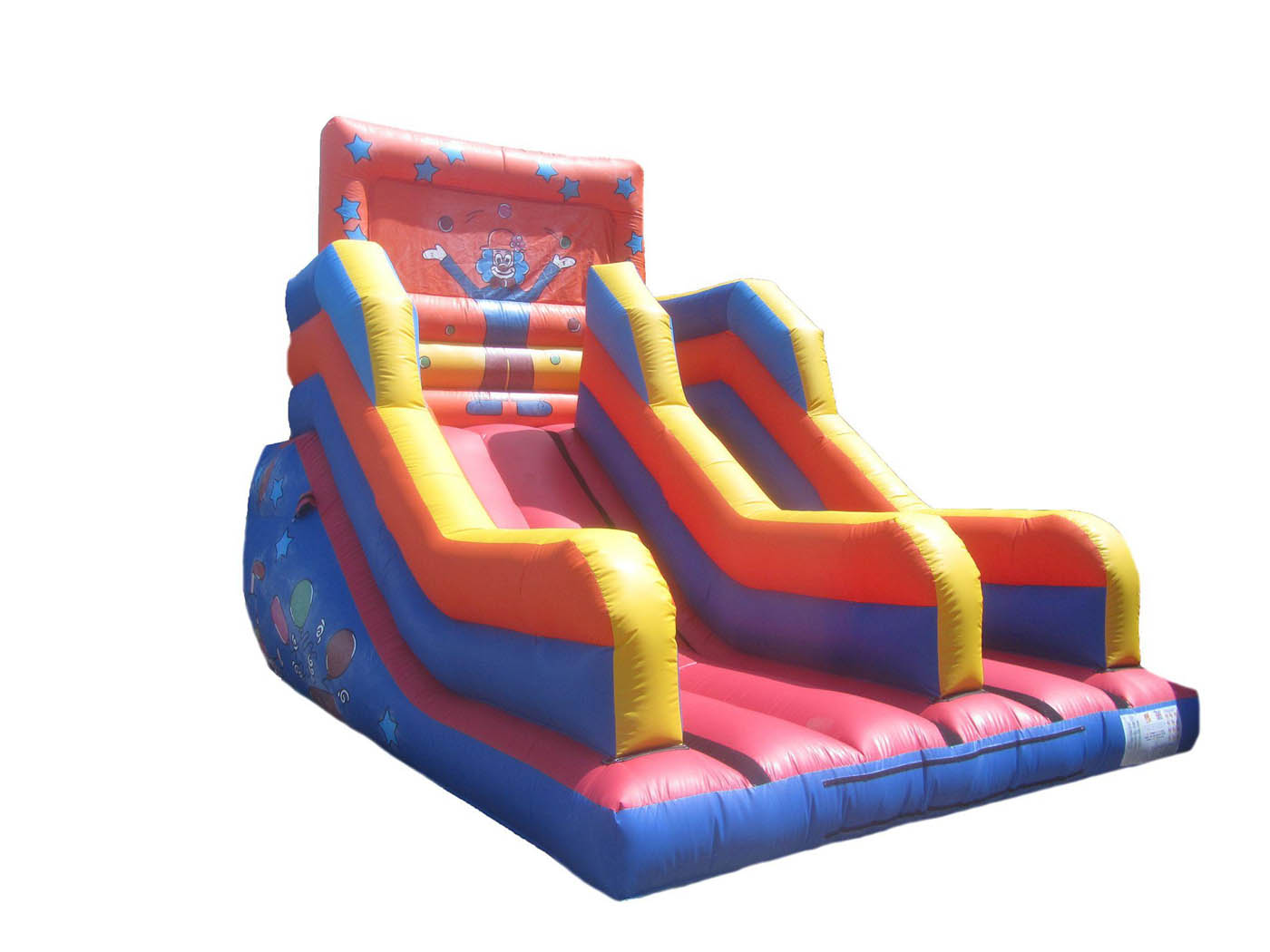 15ft-clown-platform-inflatable-slide-compressor