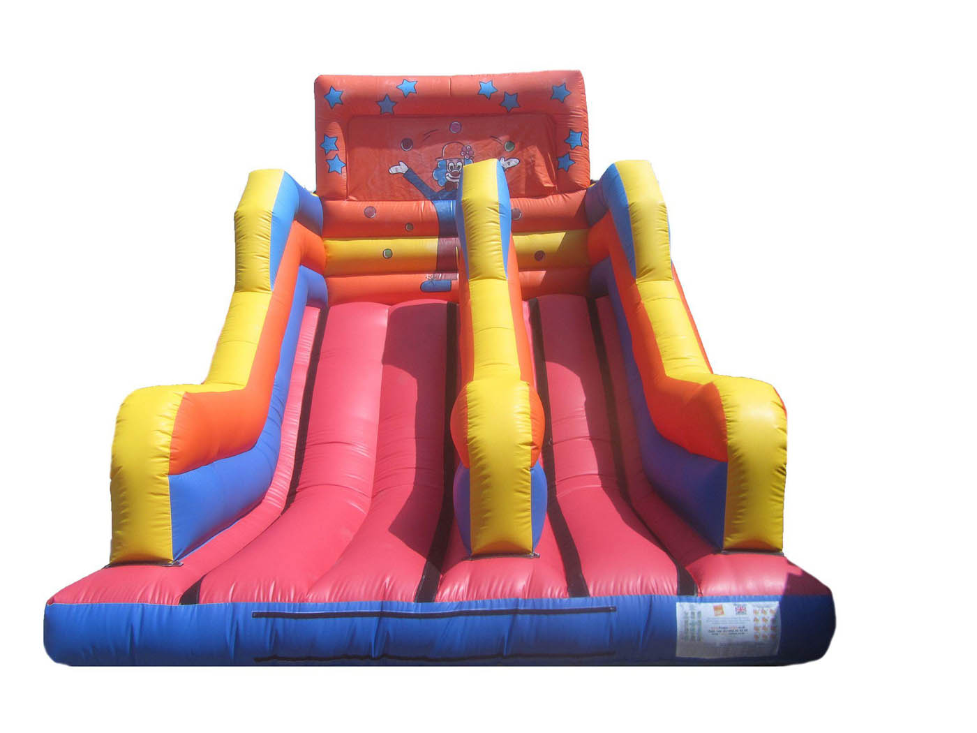 15ft-platform-clown-inflatable-slide-compressor