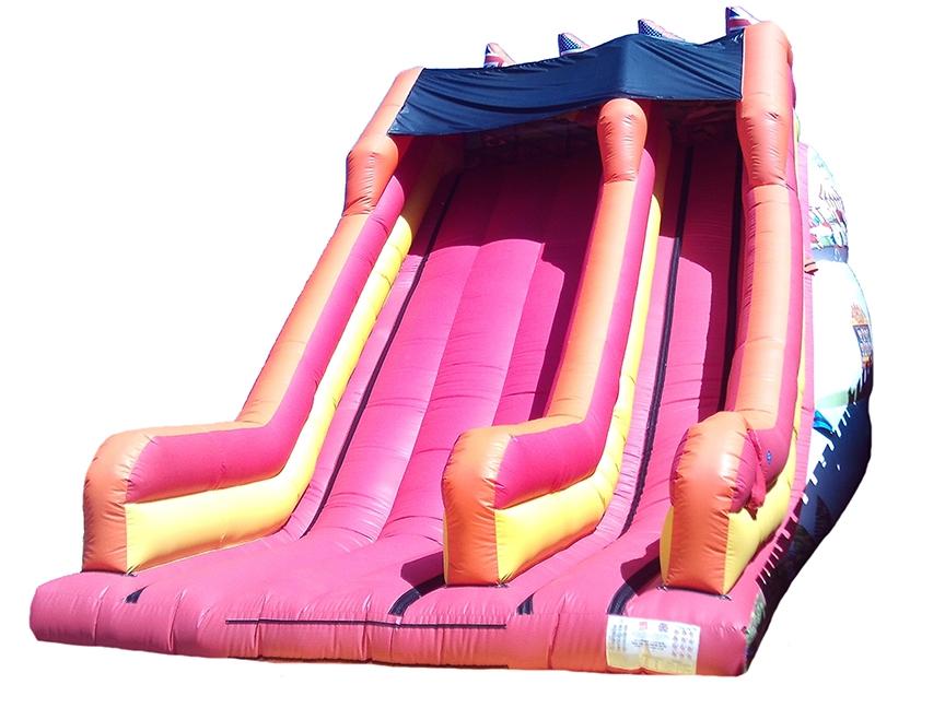 Fairground Themed Inflatable Mega Slide