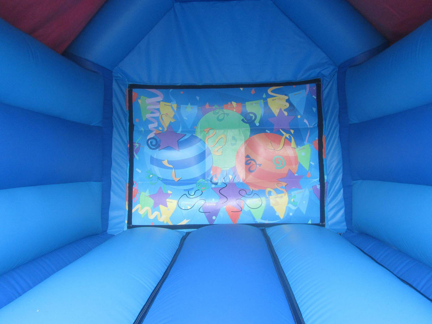 Bouncy Castle Back wall with Velcro and Party Artwork