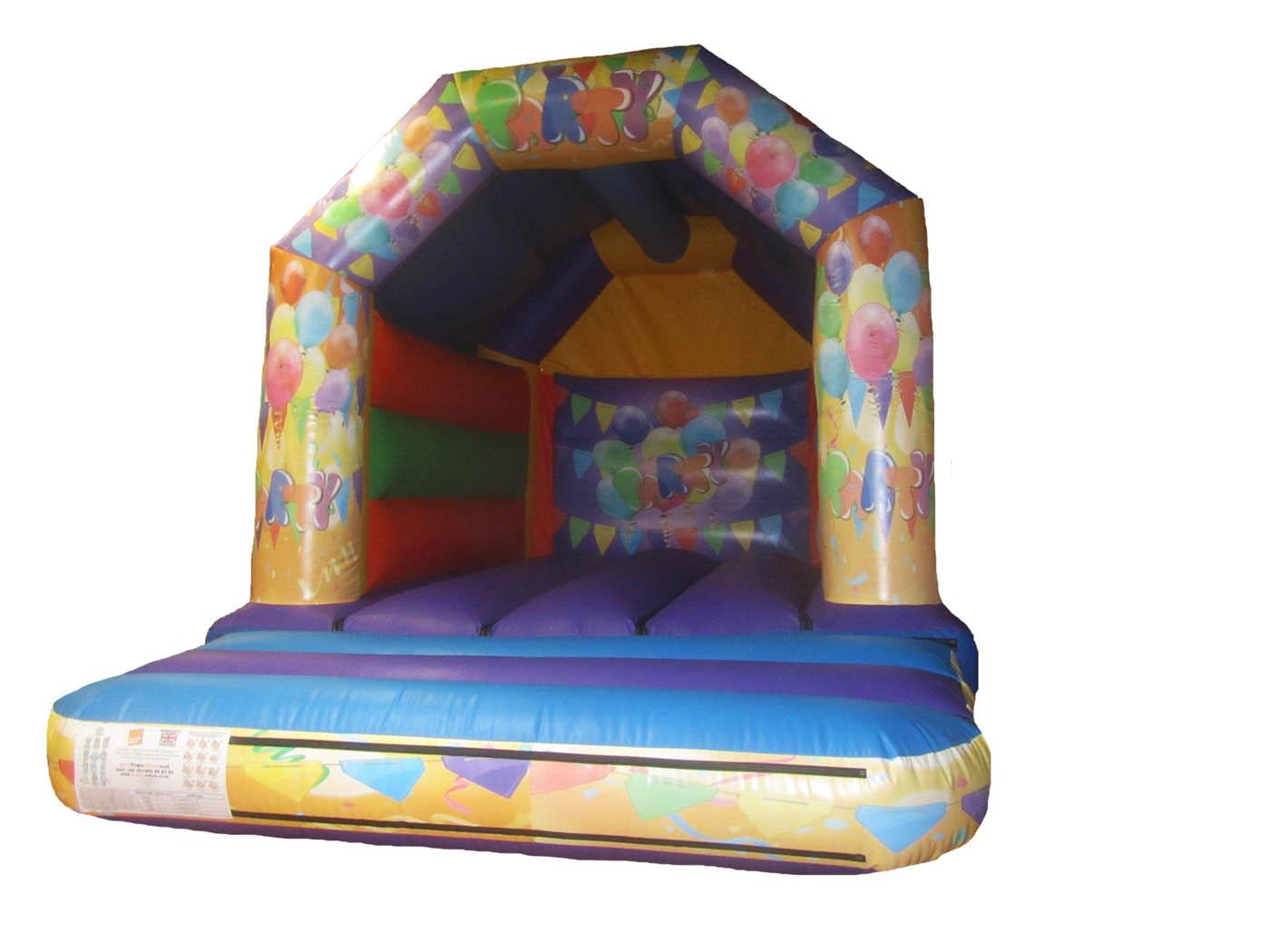 15x11-orange-purple-print-party-inflatable-bouncy-castle-compressor
