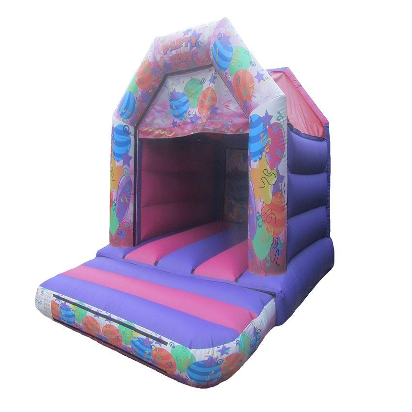 15x11-pink-party-childrens-velcro-bouncy-castle-compressor