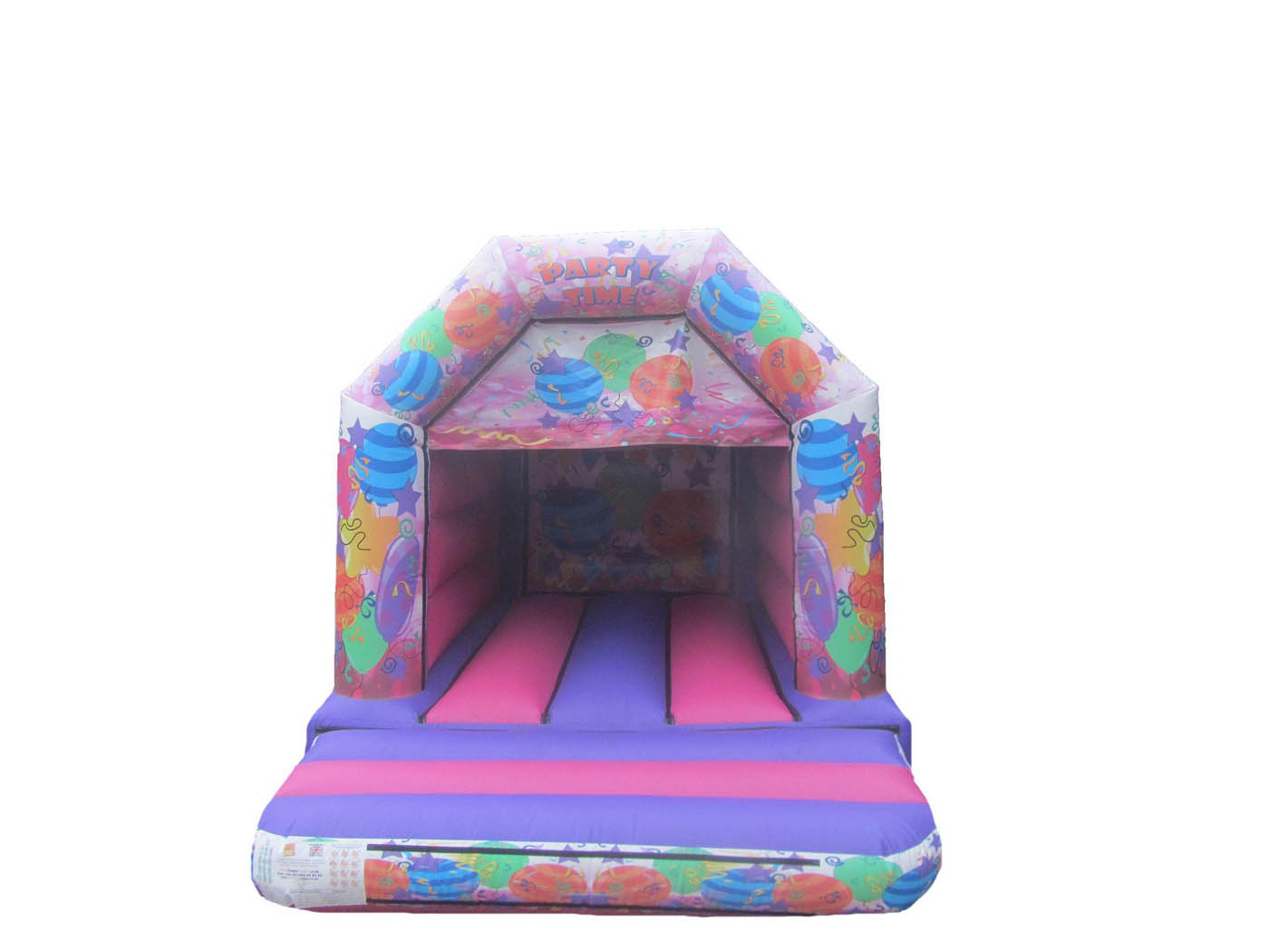 15x11-pink-party-printed-childrens-velcro-bouncy-castle-compressor