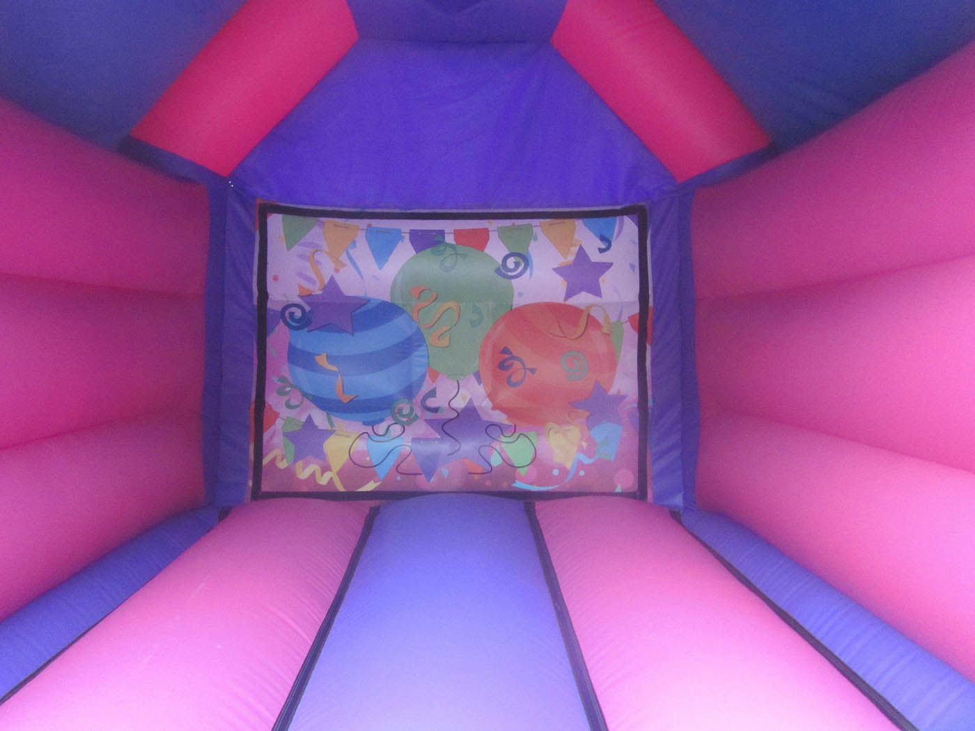 Pink Party Bouncy Castle Artwork