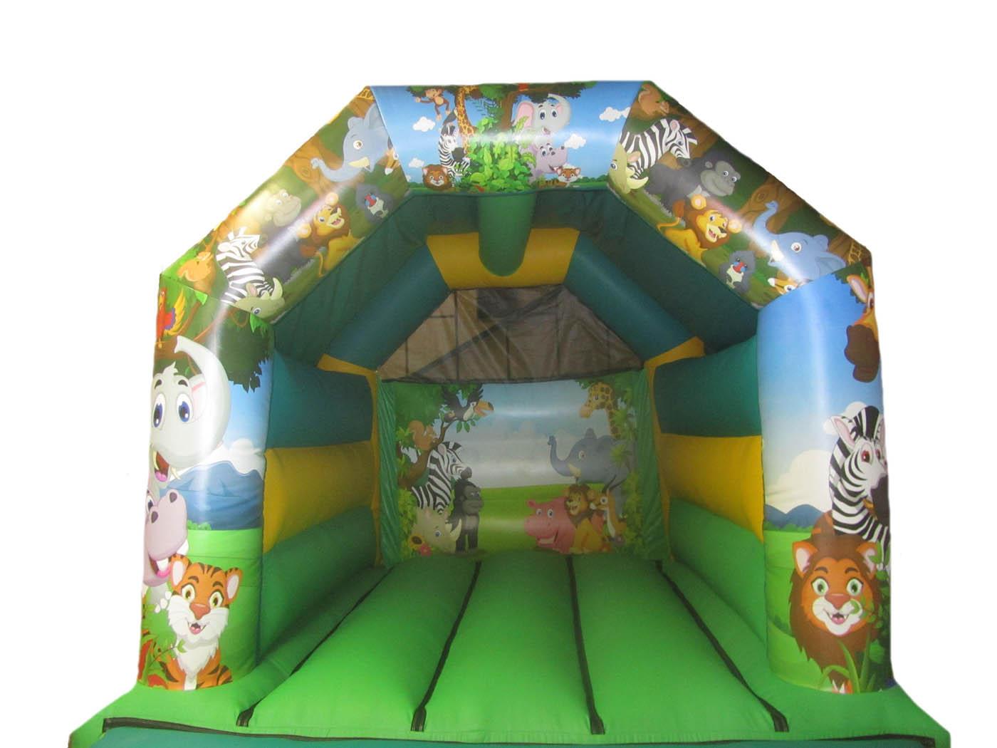 Jungle Themed Bouncy Castle for Sale
