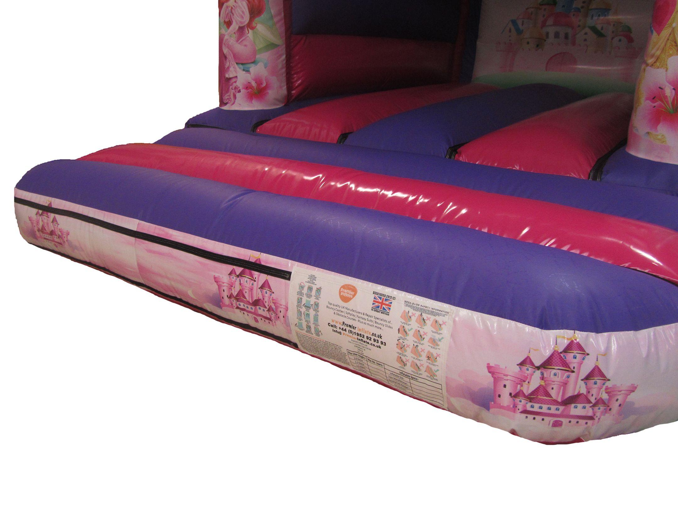 Princess themed artwork on Bouncy Castle