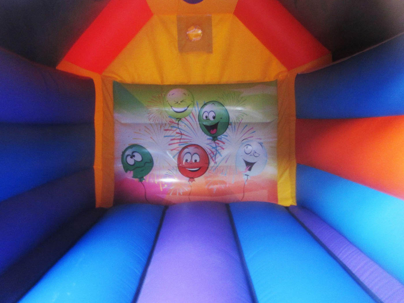 Party Themed Artwork on Bouncy Castle