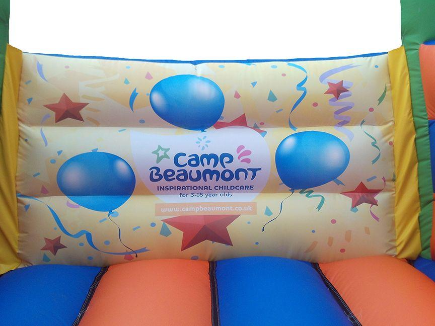 Party Artwork on Bouncy Castle