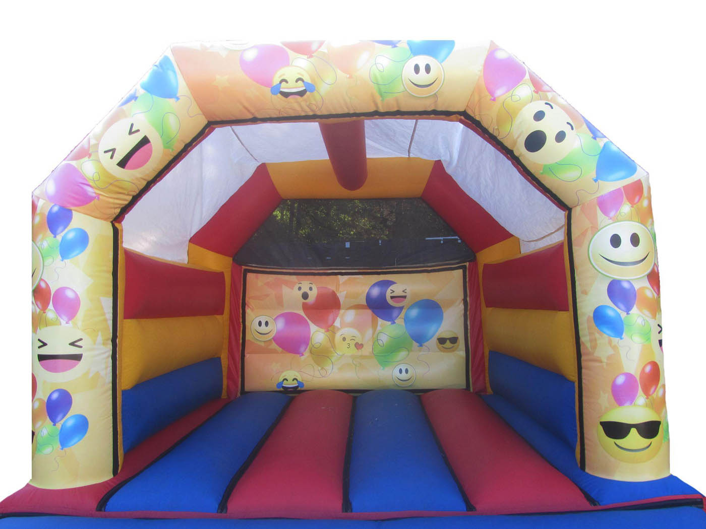 Digitally Printed Emoji Themed Artwork on Bouncy Castle