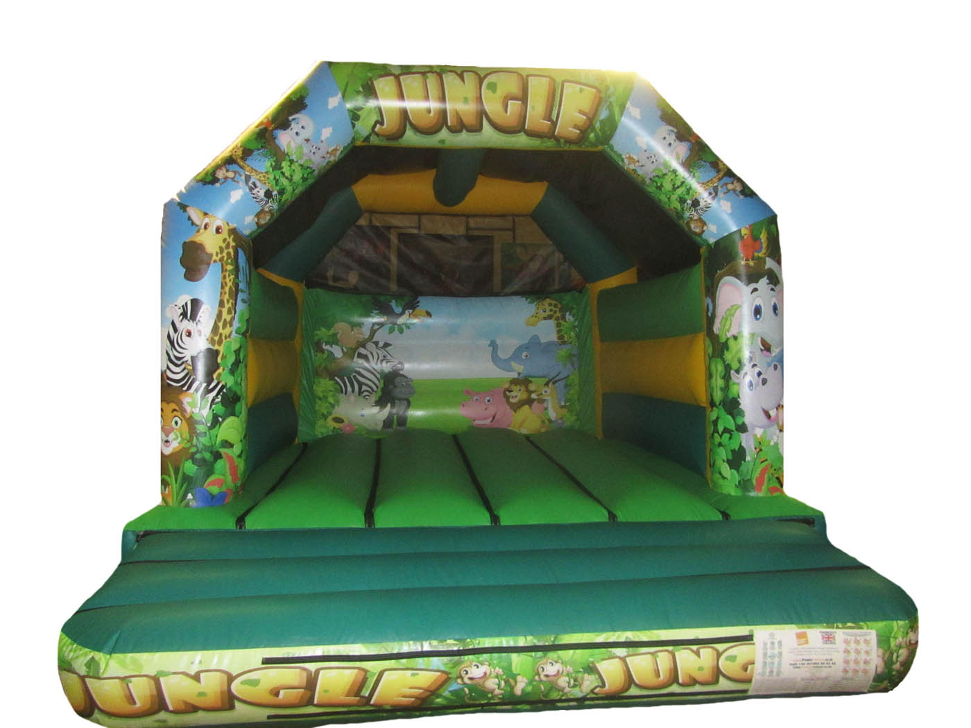 Jungle Themed Commercial Bouncy Castle