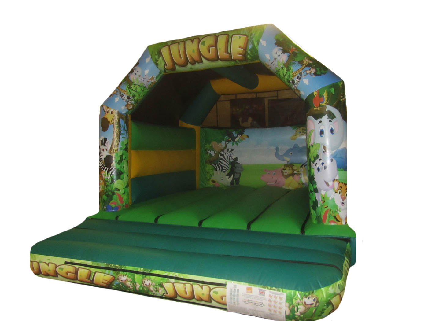 Commercial Bouncy Castle with Digitally Printed Jungle Artwork