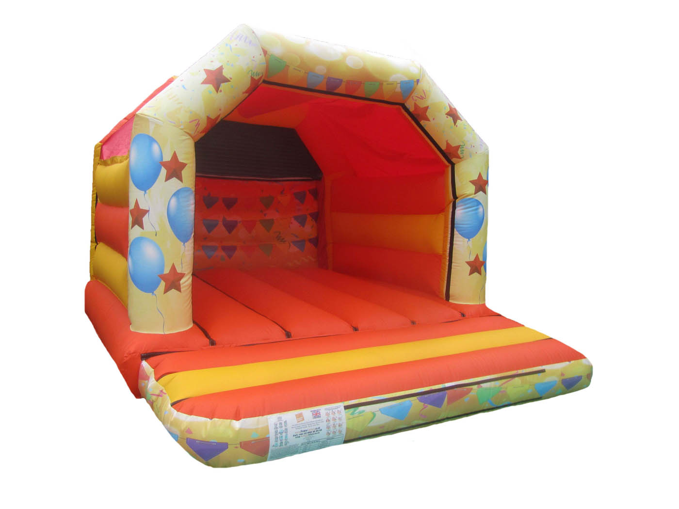 Yellow & Orange Party Themed Bouncy Castle