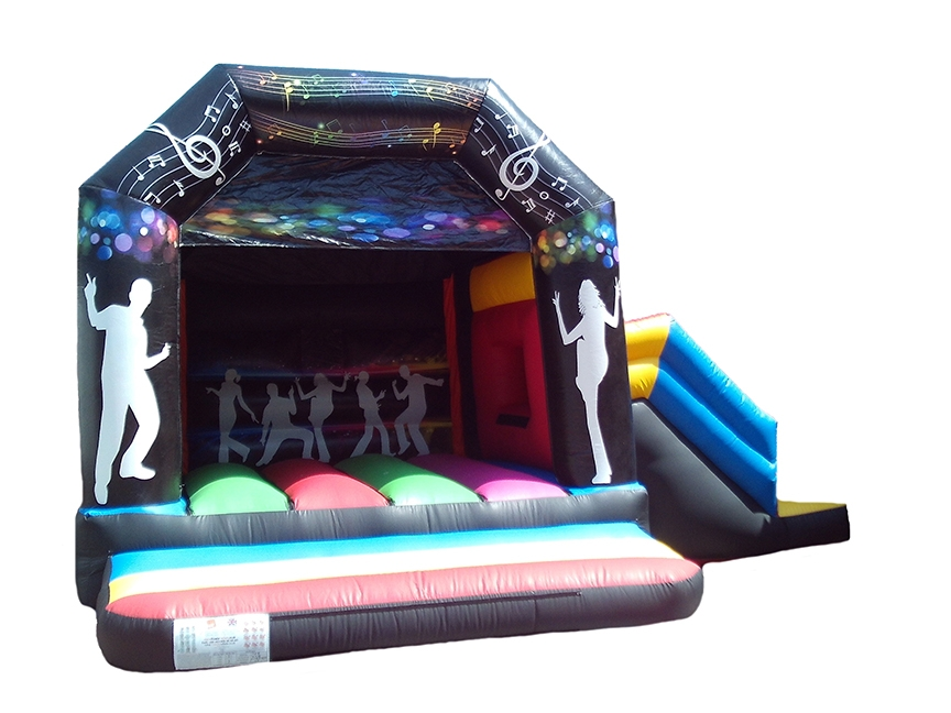 Adults Combo Bouncy Castle with Disco Themed Artwork