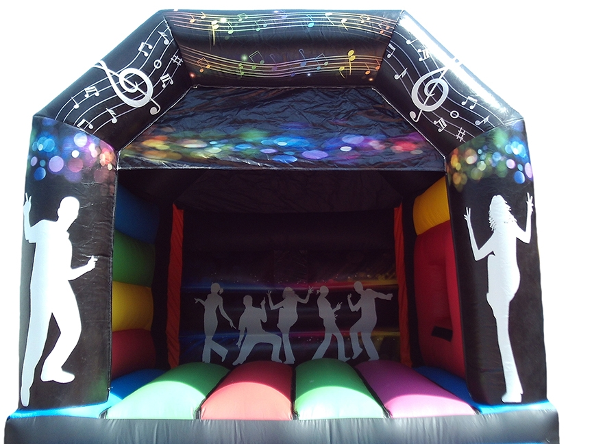 Disco Themed Artwork on Adult Bouncy Castle