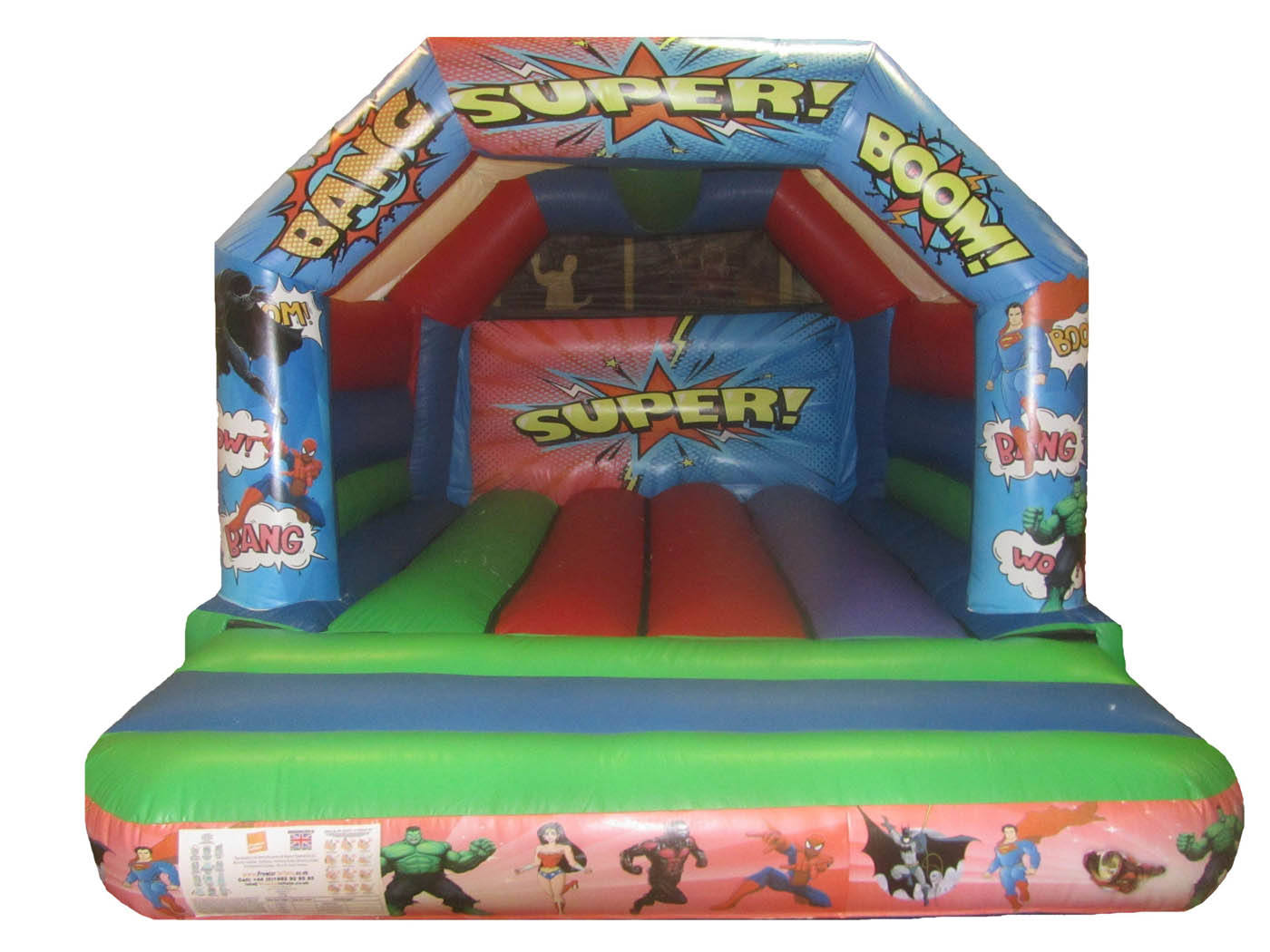 Superhero Themed Commercial Bouncy Castle