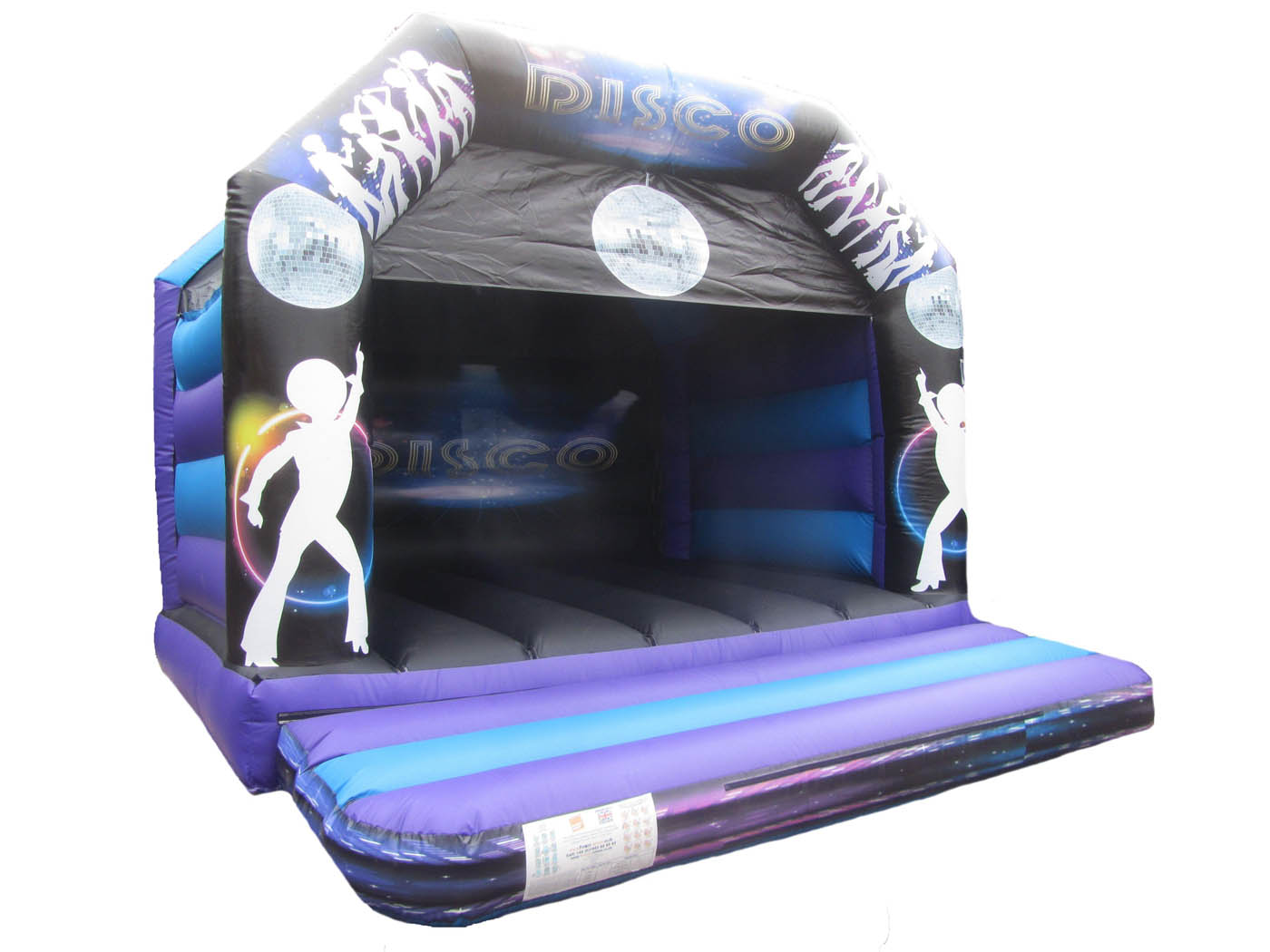 Disco Themed Commercial Bouncy Castle