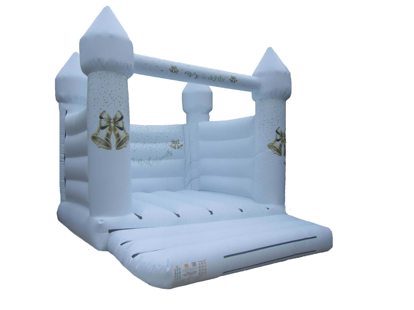 Turret Top Wedding Bouncy Castle