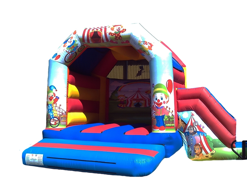 Circus Themed Adult Combo Bouncy Castle for Sale