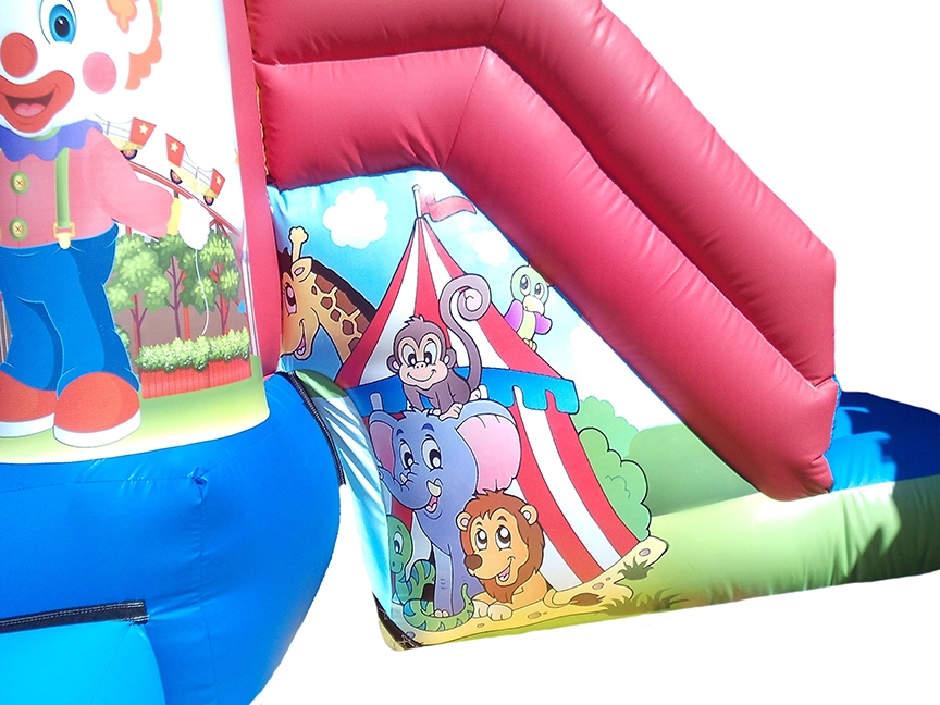 Circus Themed Bouncy Combi Slide