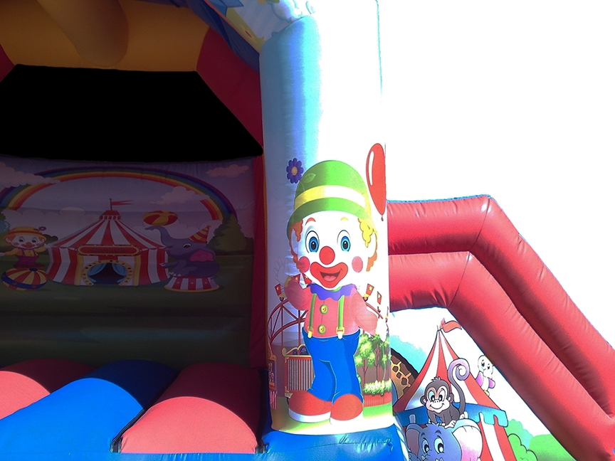 Circus Themed Bouncy Castle