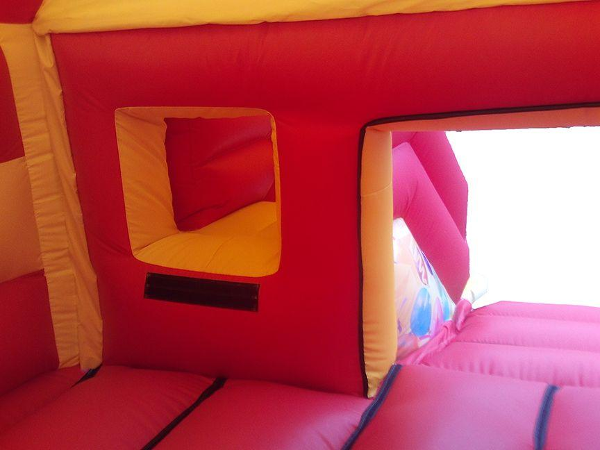 Inside A Commercial Front Slide Combo Bouncy Castle