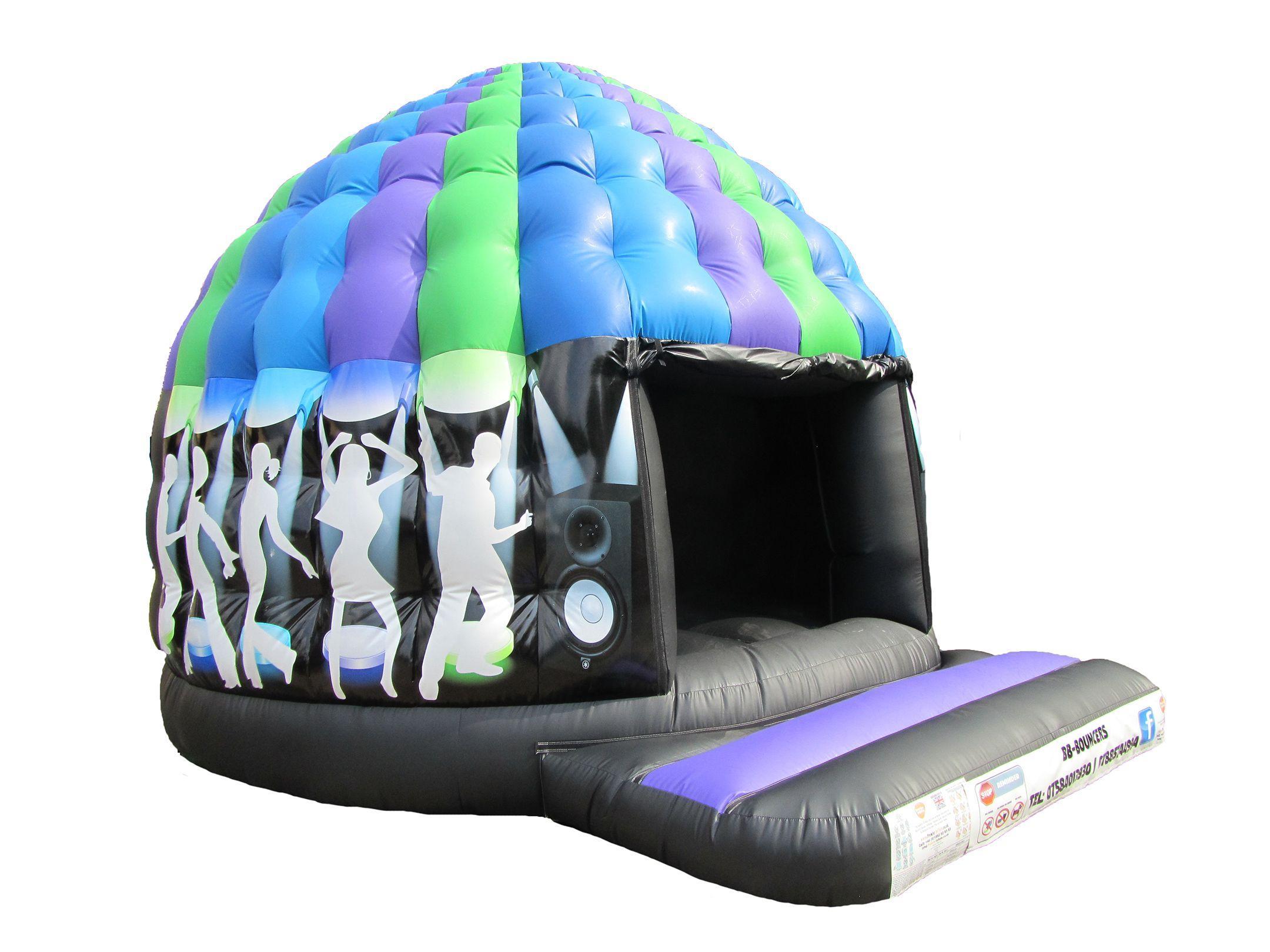 17x12 circular disco dome inflatable 3 compressor
