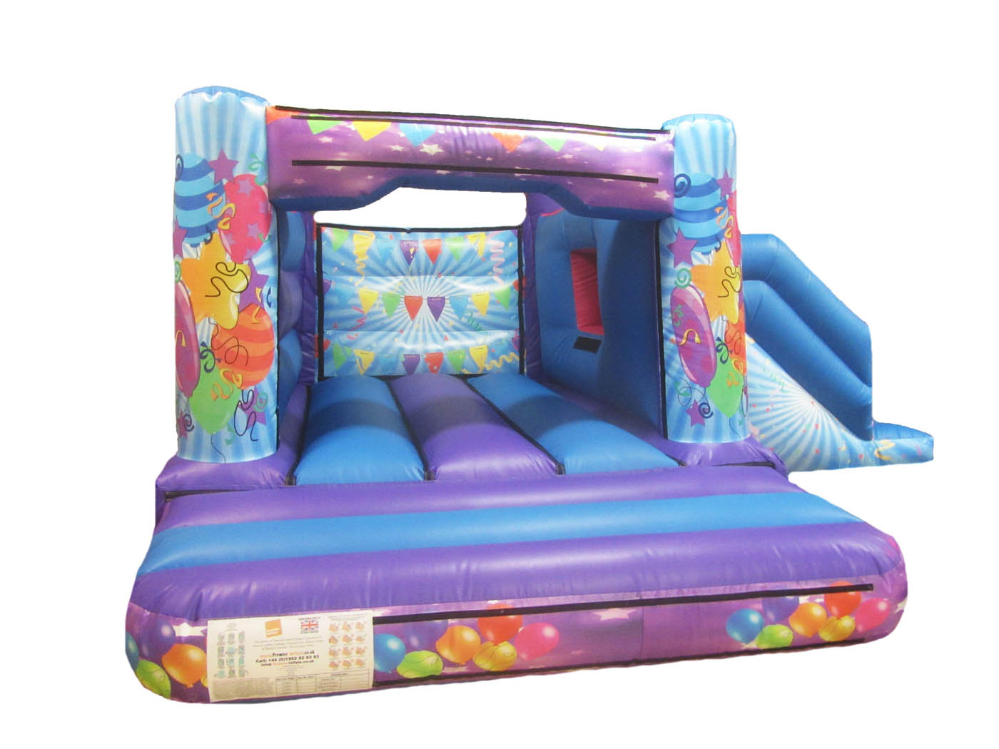 17x15-4post-combi-childrens-bouncy-castle-compressor