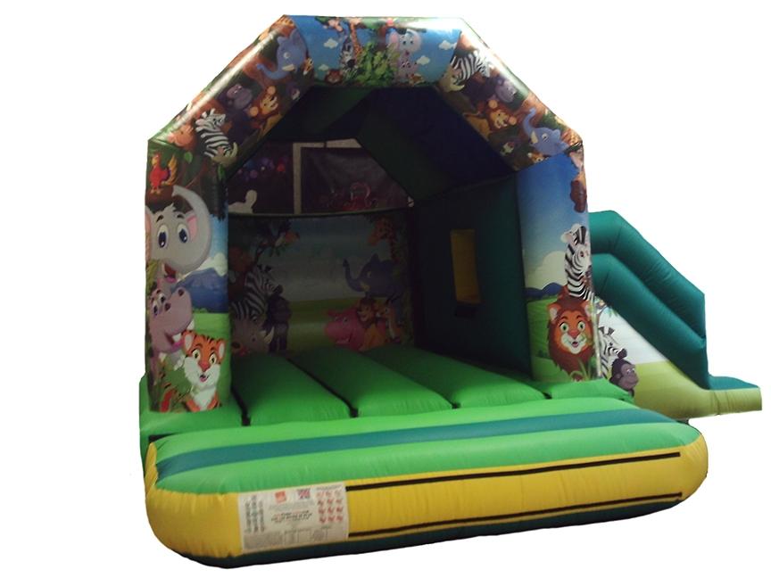 17x15-combi-jungle-printed-bouncy-castle-compressor