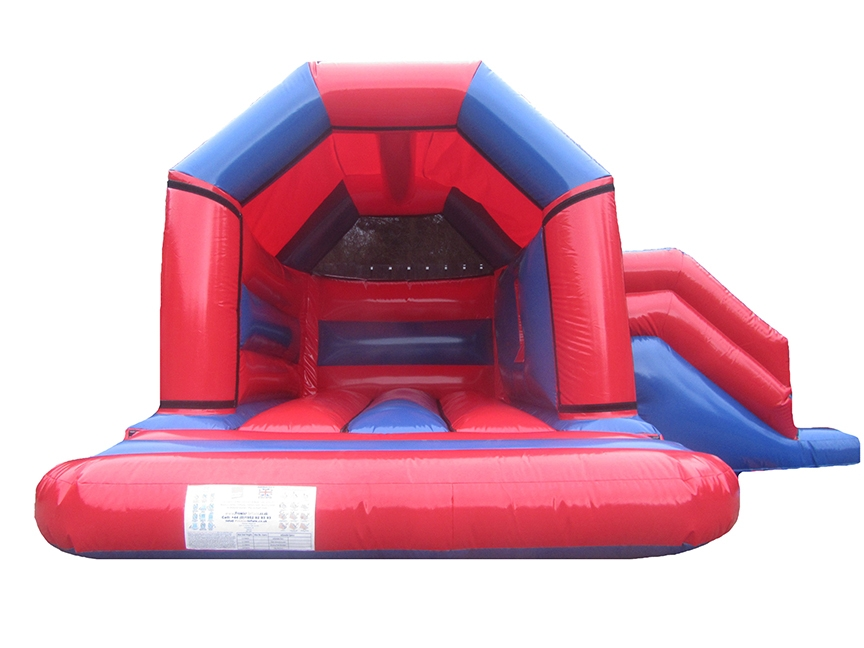 17x15-red-blue-gloss-combi-bouncy-castle-compressor