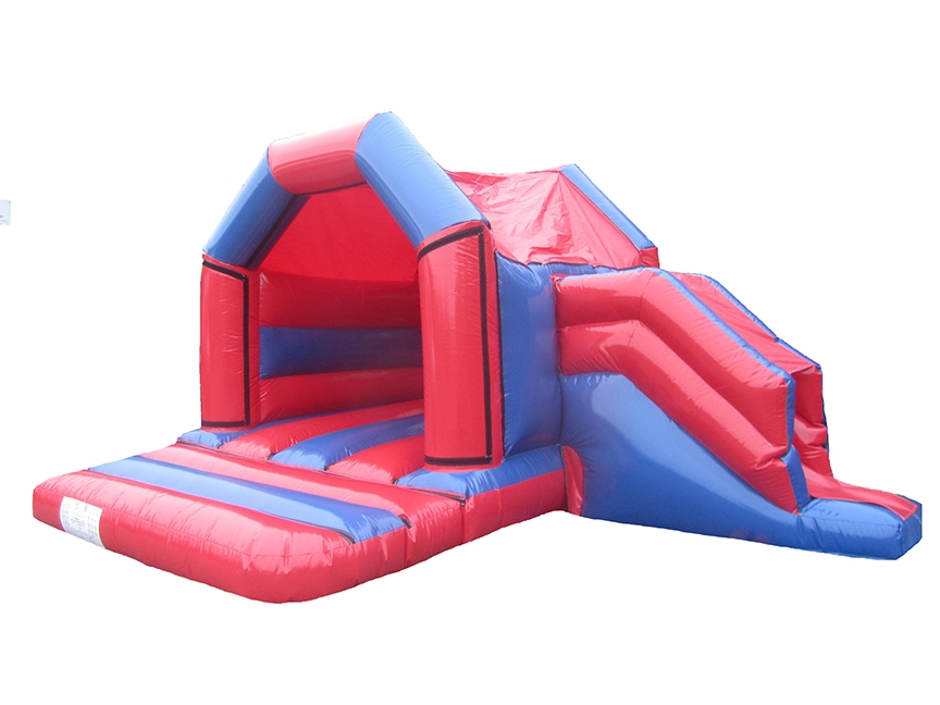 17x15-red-blue-gloss-combi-childs-bouncy-castle-compressor