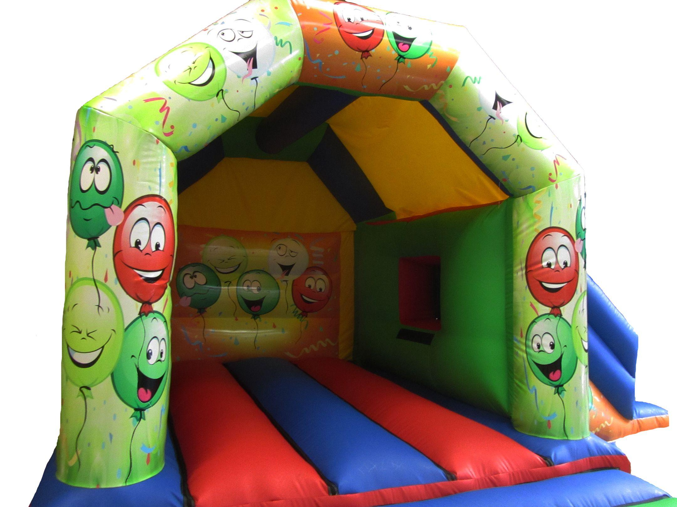 17x15 smiley face combi bouncy castle compressor