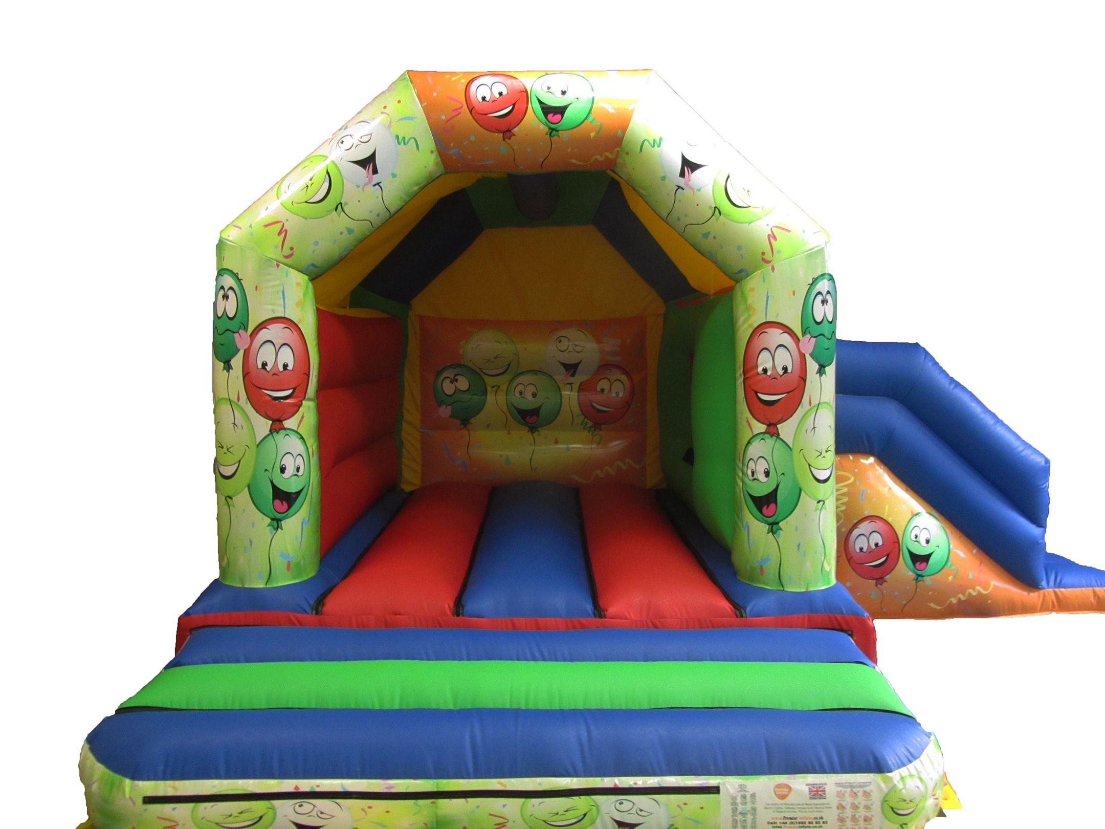 17x15 smiley face combi childs bouncy castle compressor
