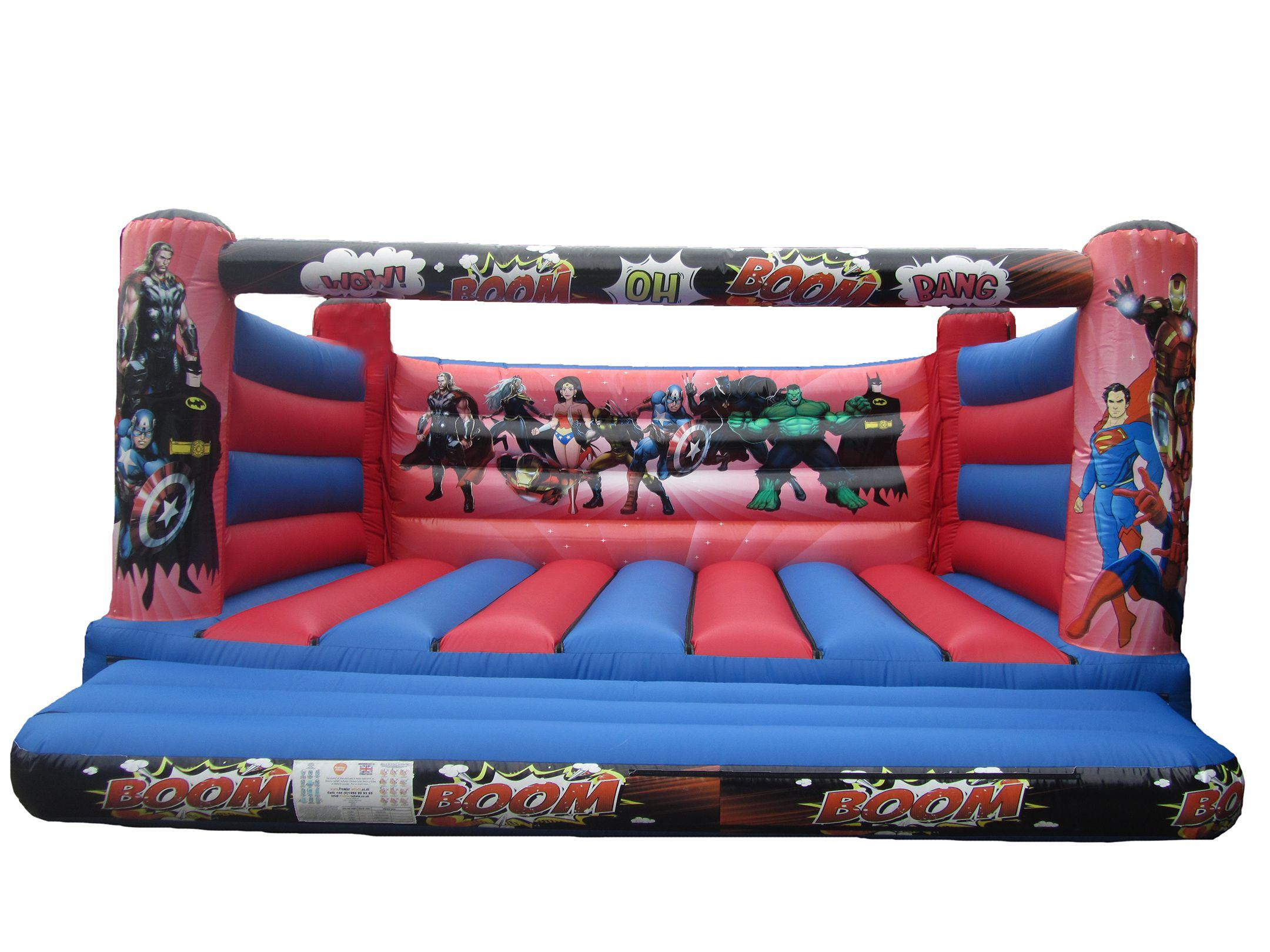 Large Adults 4 post Superhero Bouncy Castle for Sale