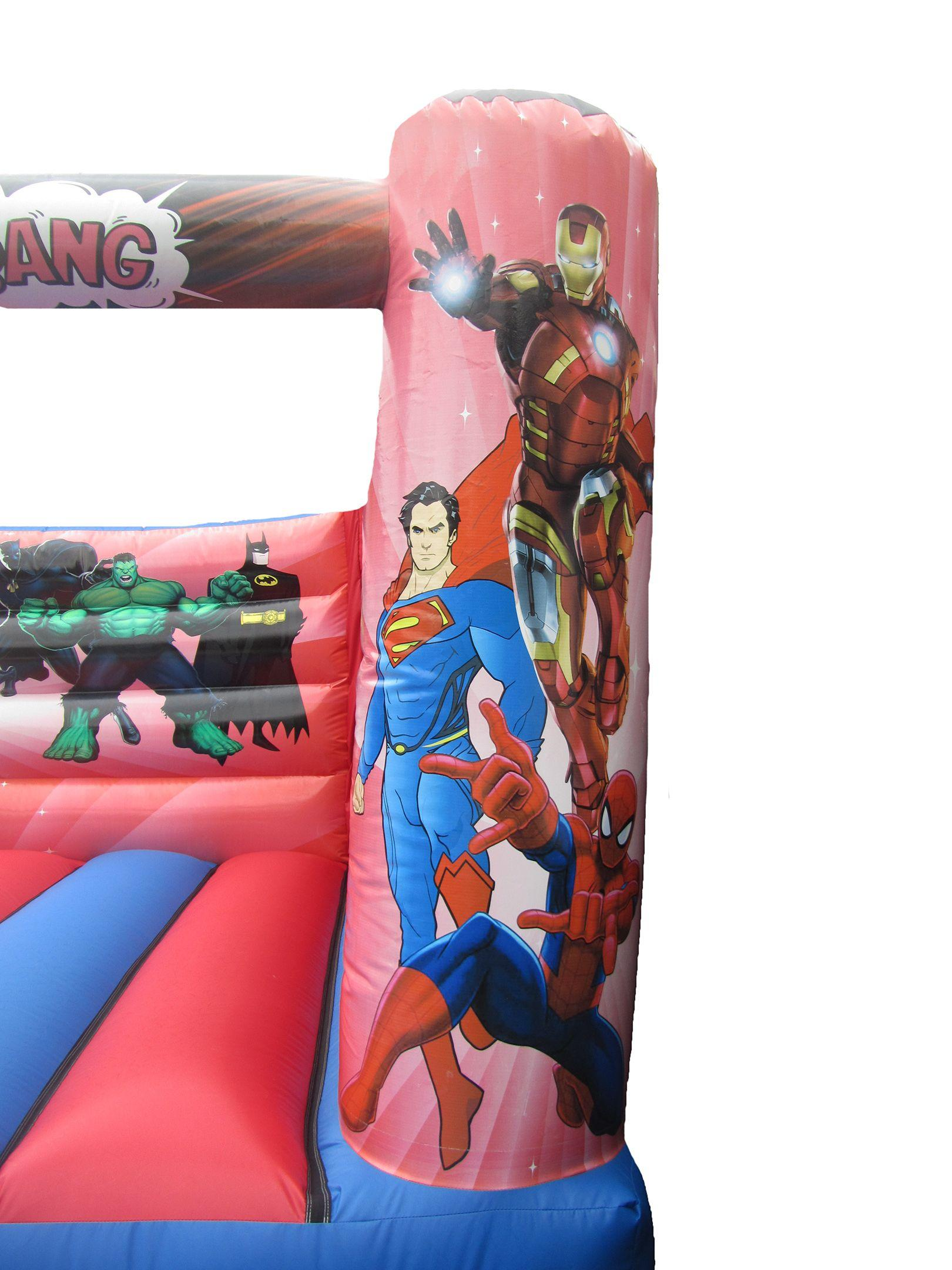 Digitally Printed Superhero Bouncy Castle Artwork