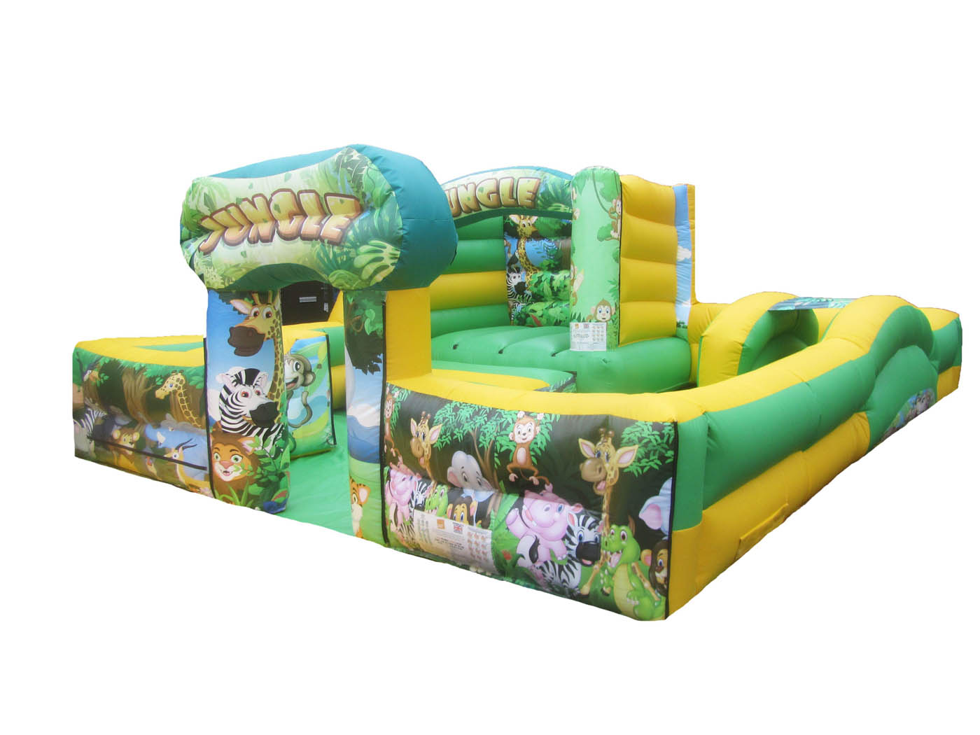 Jungle Themed Inflatable Play Park, Inflatable Soft Play for Sale