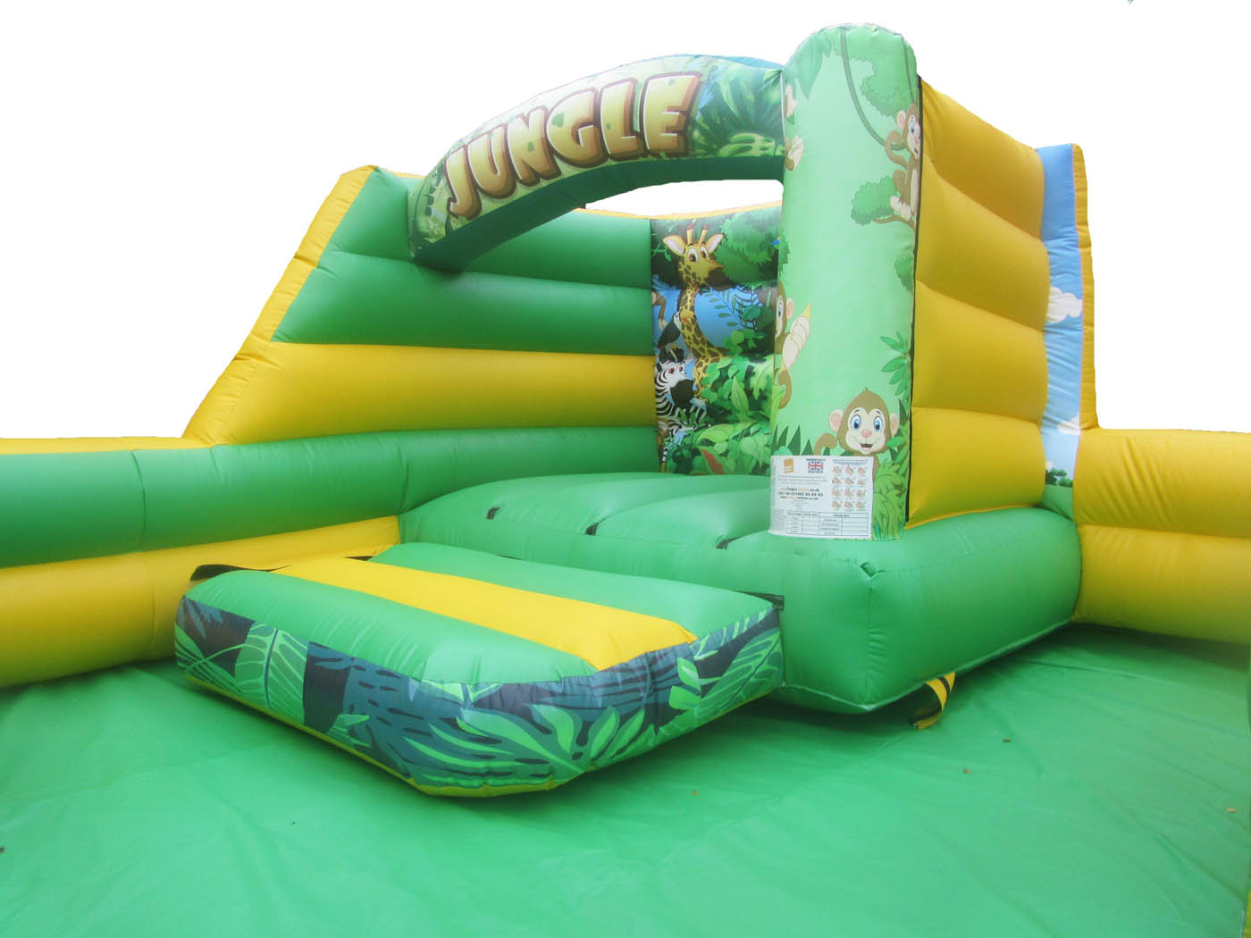 Commercial Toddler Bouncy Castle with Jungle Themed Artwork