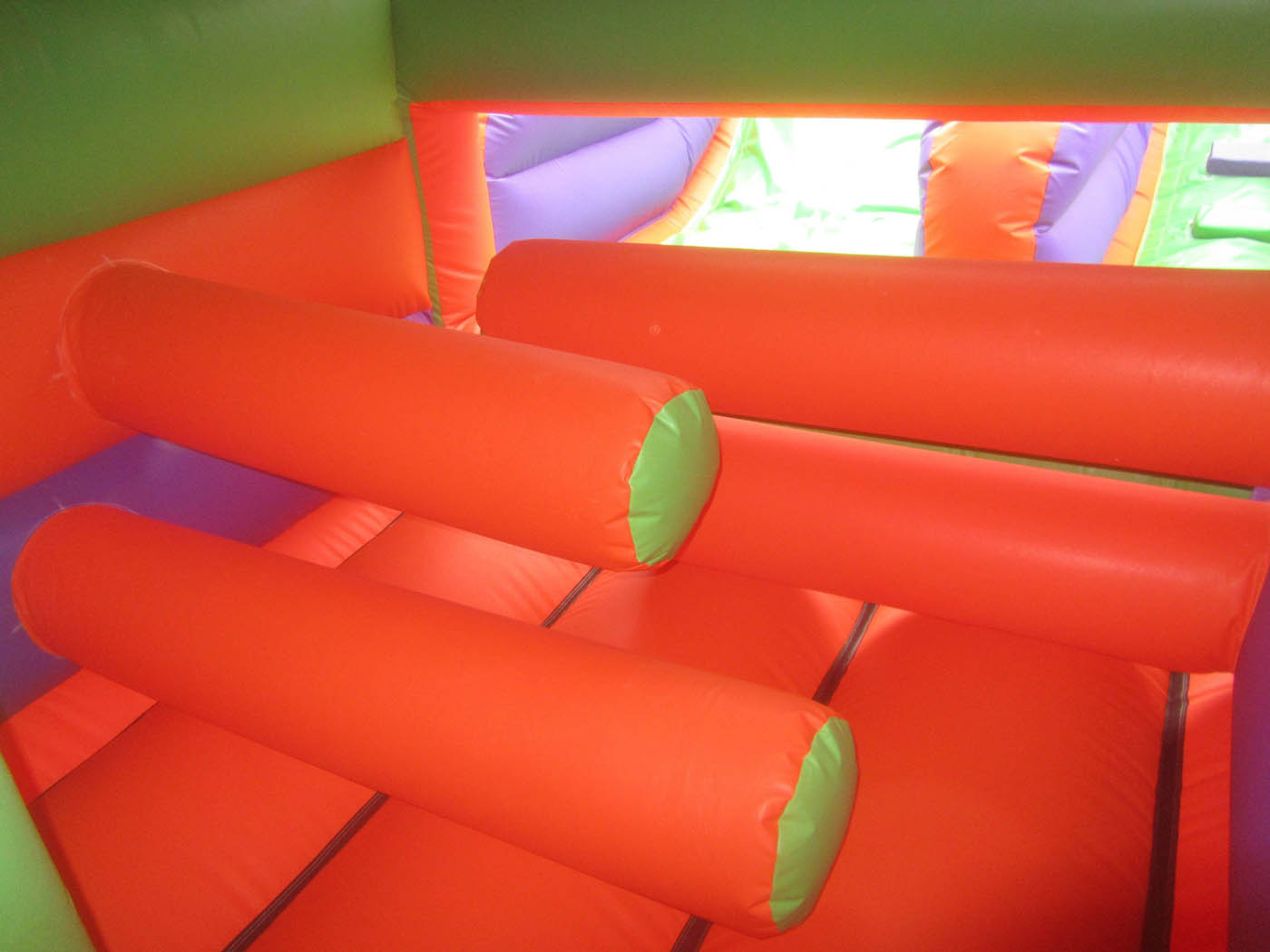Inside of Inflatable Obstacle Course