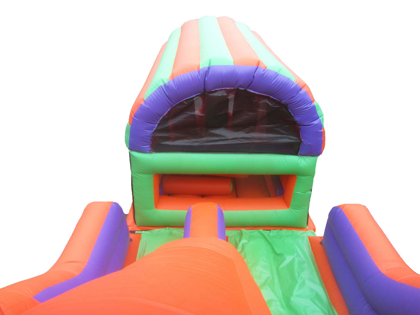 2-part-minions-printed-inflatable-obstacle-course-slide-compressor